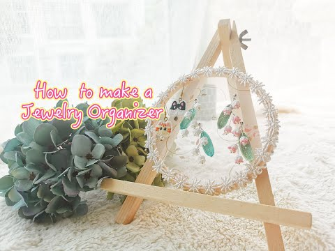 DIY Jewelry Organizer丨How to make earrings holder
