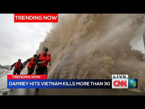 Typhoon Damrey hits Vietnam with deadly force footage