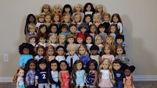 ALL MY 56 AMERICAN GIRL DOLLS AS OF MARCH 2017