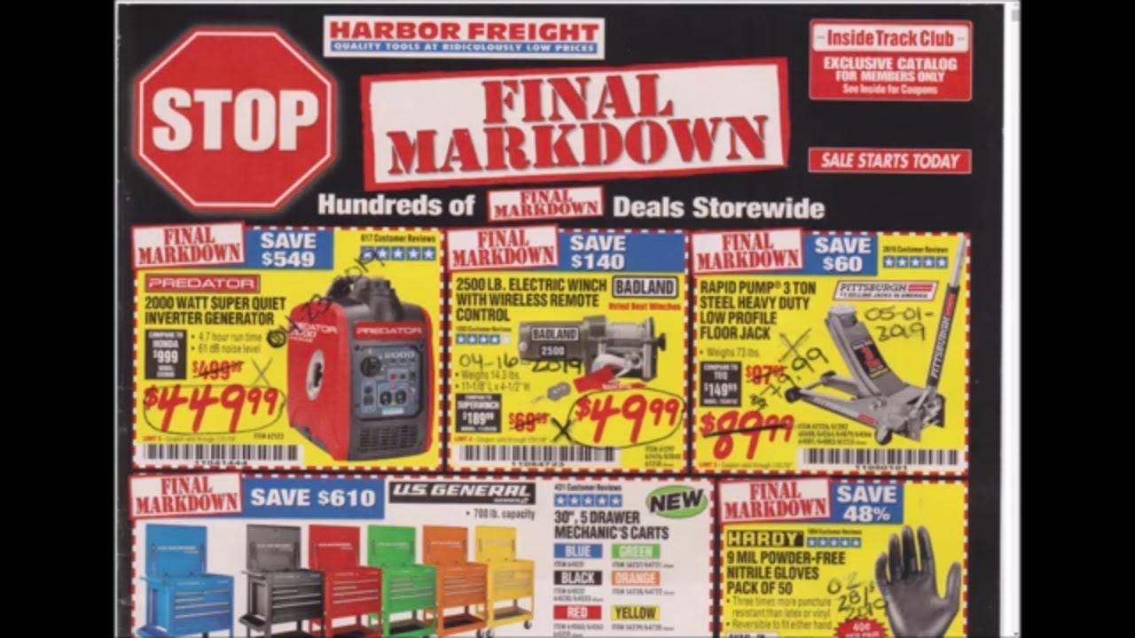 Harbor Freight Coupon Catalog Breakdown January 2019 Edition Youtube