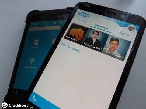 Skype For BlackBerry 10 - New UI