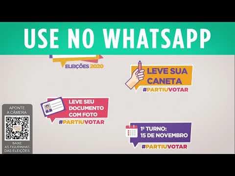 TSE e WhatsApp lançam pacote de figurinhas para as eleições municipais