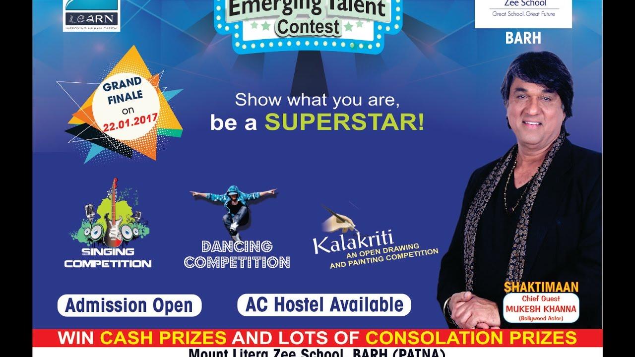 Zee Emerging Talent Contest By Mount Litera Zee School Barh Patna