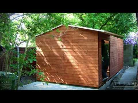 Shed Install Garden Shed with Shiplap Cladding and Felt Tiled Roof, How To