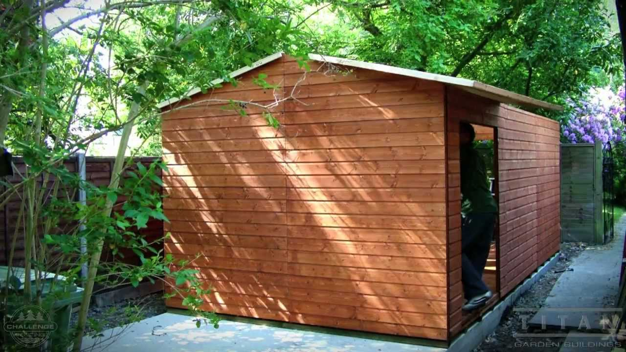 Shed Install Garden Shed With Shiplap Cladding And Felt
