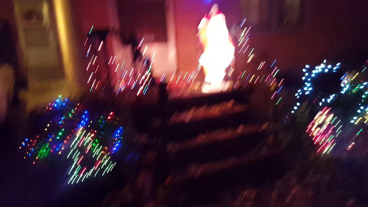 christmas yard lights display 2017 - Christmas Walkway Lights
