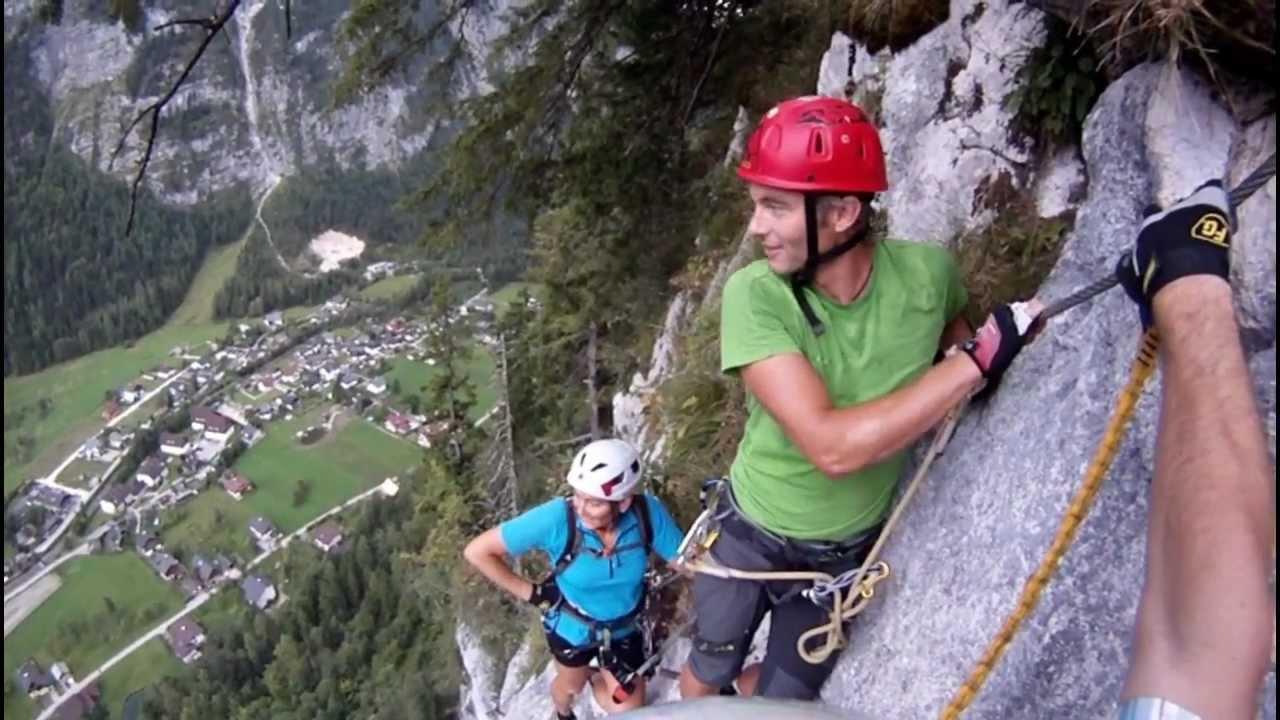 Klettersteig Hallstatt : Echernwand klettersteig hallstatt youtube