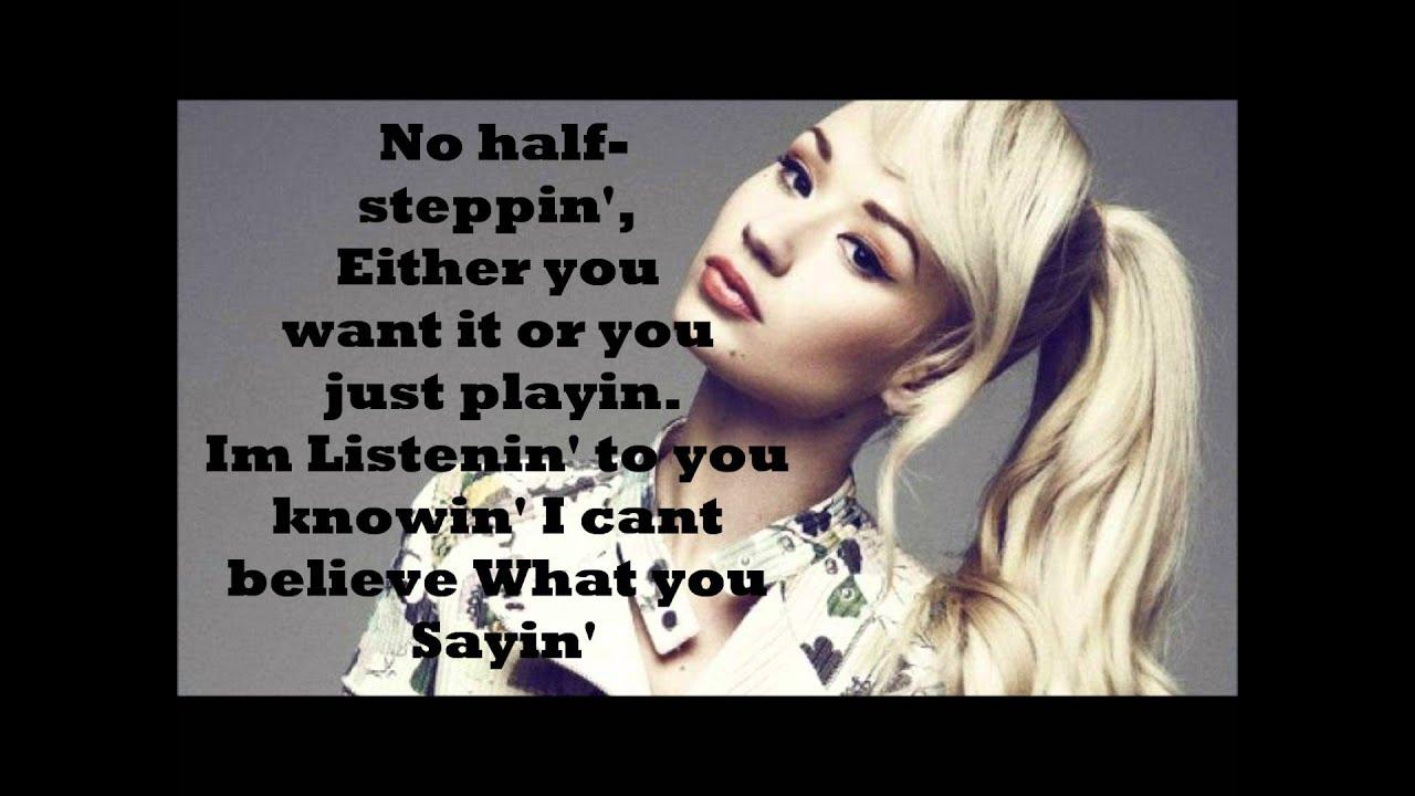 Ariana Grande - Problem (Iggy Azalea) Rap Part LYRICS ...