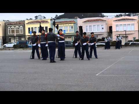 91st Competition 2015   Balboa High School Flag Drill Team