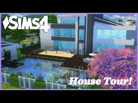 The Sims 4 - Base Game Modern Mansion (House Tour!)
