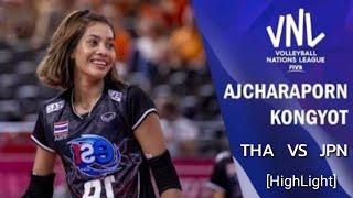 [Hight Light]  Ajcharaporn Kongyot:อัจฉราพร คงยศ THAILAND VS JAPAN |Volleyball Nation League 2018