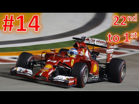 F1 2015 - FERNANDO ALONSO LAST TO FIRST CAREER MODE - PART 14 SINGAPORE POST COMMENTARY
