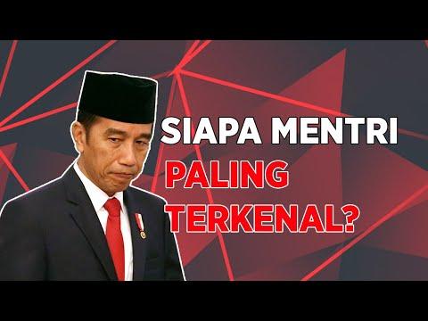 Berdasarkan Survey, Siapa Menteri Jokowi Paling Dikenal?