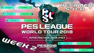 RESUMEN PES LEAGUE MYCLUB AMERICAS ROUND WEEK 2 | 5-0-0|