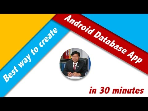 Best Way to Create Android Database App in 30 Minutes (Navigation Drawer)