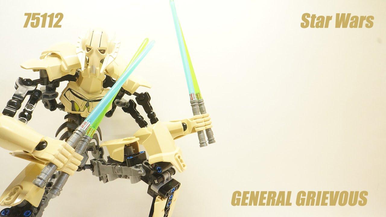 [Обзор сборка] Звёздные войны: 75112 Генерал Гривус - YouTube