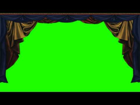 HOME studio curtains in green screen free stock footage