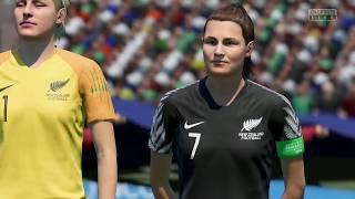 Coupe Du Monde Féminine 2019 Groupe E Cameroun VS Nouvelle Zélande 20 Juin 2019 Sur Fifa 19