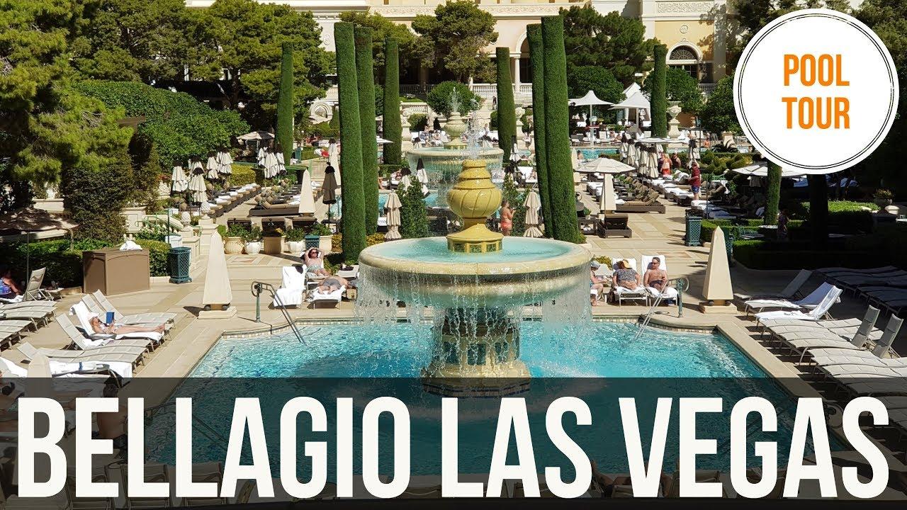 Bellagio Pool Walkthrough Las Vegas Youtube