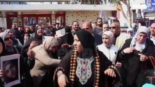 رصد | وقفة أهالي شهداء مذبحة بورسعيد أمام النادي الأهلي