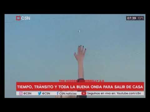 НЛО в прямом эфире: Видео НЛО в Аргентине во время показа новостей. UFO Buenos Aires, Argentina