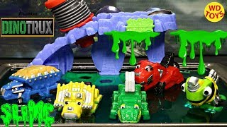 New Dinotrux Slime  Bath Squirtin Trux Wash Slimed Dinosaur Trucks Unboxing Surprise Toys