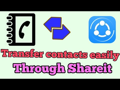 How to transfer contacts using shareit