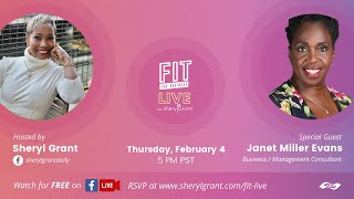 "FIT LIVE! Talking ""Steps to Building Dynamic Teams"" with Janet Miller Evans!"