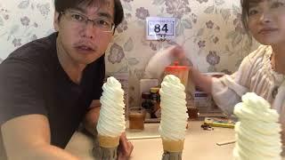 箸で食べる10段ソフトクリーム!岩手花巻マルカンビル大食堂のソフトの食べ方解説