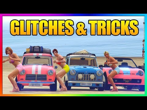 GTA 5 Online - 5 NEW GLITCHES & TRICKS (Clothing Glitch, Secret Wallbreach & More 1.43)
