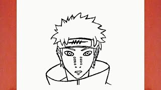 HOW TO DRAW PAIN FROM NARUTO