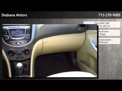 2013 Hyundai Accent Sedan Automatic Gls Houston Tx