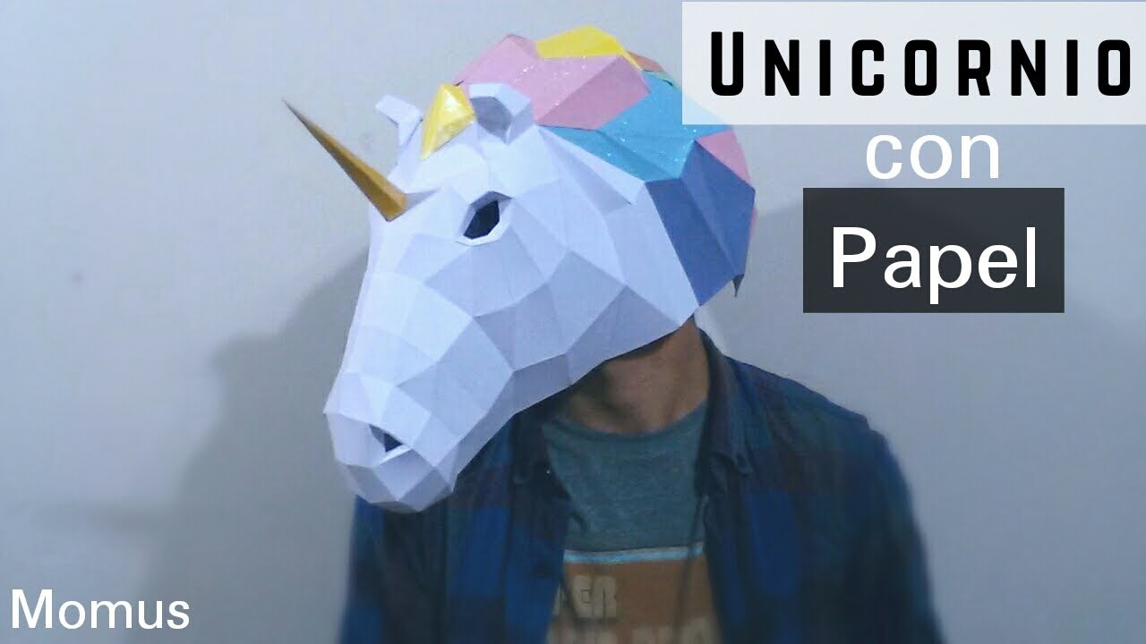 Como Hacer Una Máscara De Unicornio Muy Fácil Y Rápido Mascaras