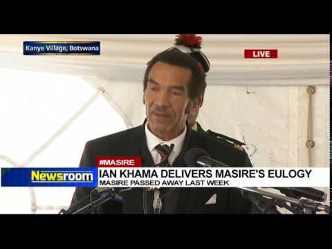 Ian Khama delivers Ketumile Masire's eulogy