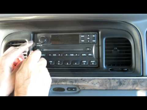 2002 Ford F250 Fuse Box Diagram How To Remove A Radio From Ford Mercury Lincoln 98 07