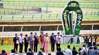 2017.05.07第22回NHKマイルカップ(G1)表彰式②阿部純子&横山典弘ほか(&...