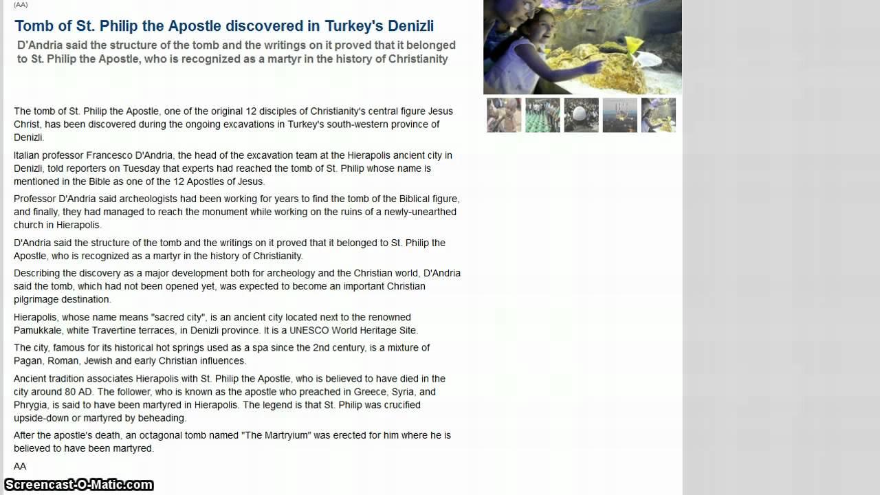 tomb of apostle philip original disciple of jesus christ found