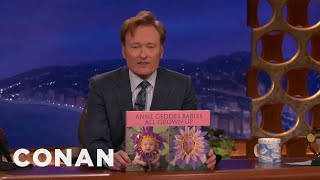 Conan Shows Off New Coffee Table Books - Conan On Tbs
