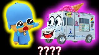 5 Pocoyo & Ice Cream Truck Go Away Sound Variations in 48 Seconds
