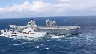 HMS QUEEN ELIZABETH Replenishment at Sea (RAS)