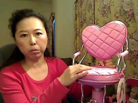 American Doll Chair Vanity Table With Salon Review Wmv Youtube