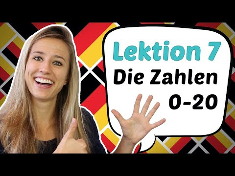 GERMAN LESSON 7: the German NUMBERS FROM 0 TO 20 (PARODY)