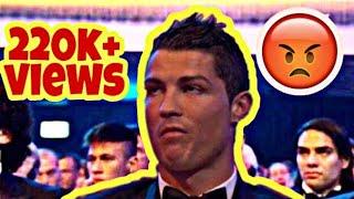 Reaction of Ronaldo when Messi wins ballon d' or