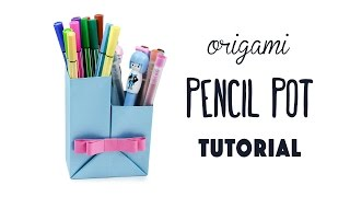 Origami Pencil Pot Tutorial ♥︎ DIY ♥︎ Paper Kawaii