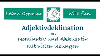 Learn German A1 adjective declination PART 2