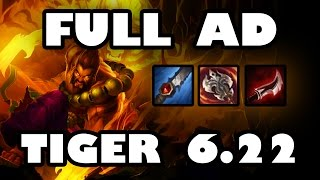 Maximum Burst Damage | Full AD Tiger Udyr Jungle Guide [6.22]