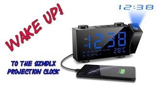 SZMDLX Projection Alarm Clock Radio