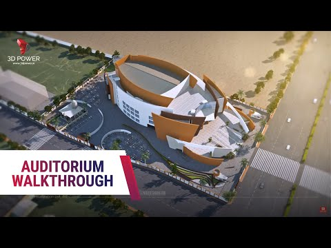 Auditorium Walkthrough Animation Interior - Exterior Video By 3D Power