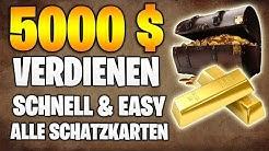 Red Dead Redemption 2: 5000$  Extrem einfach und schnell | Geheime Schatzkarten & Fundorte TEIL 1