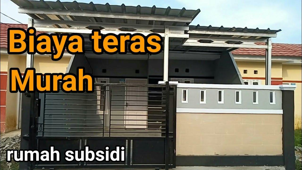 Biaya renovasi teras rumah subsidi type 30/60 - YouTube